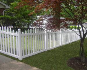 White Vinyl Fence St Charles MO